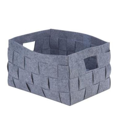 Honey-Can-Do 49.7 Qt. Woven Felt Storage Bin in Gray