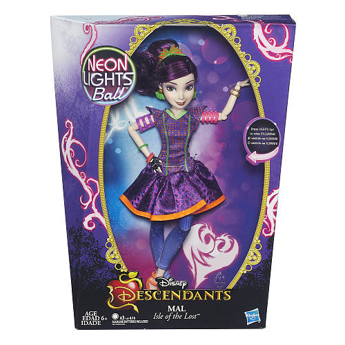 Disney Descendants Neon Lights Ball Mal Isle of the Lost Doll