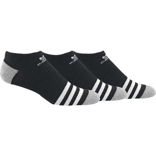 adidas Kids' Originals Roller No Show Socks 3 Pack
