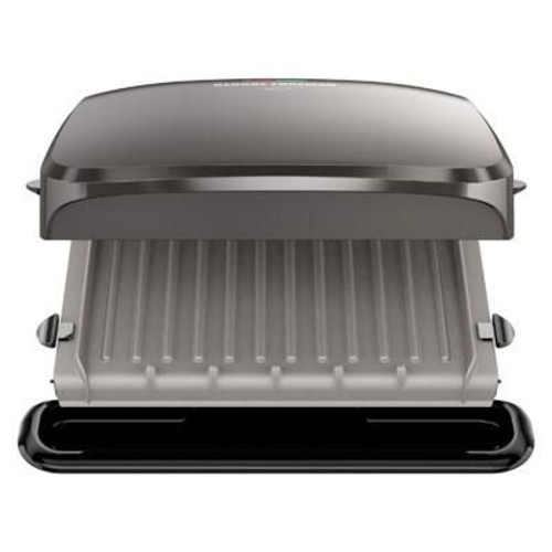 George Foreman 4 Serving Electric Grill, Platinum (GRP3060)