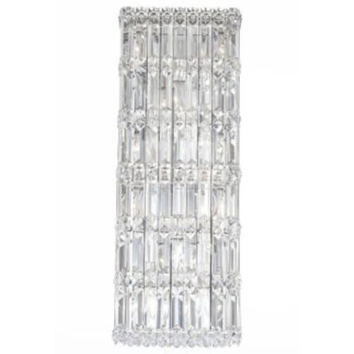 Quantum 2232 Wall Sconce [Finish : Polished Chrome; Crystal Type : Golden Shadow]
