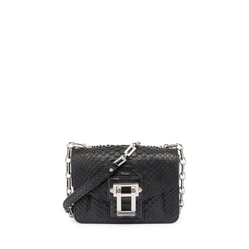 Hava Python Crossbody Bag, Black