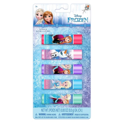 Disney Frozen Girls' 5-Pack Flavored Lip Balm