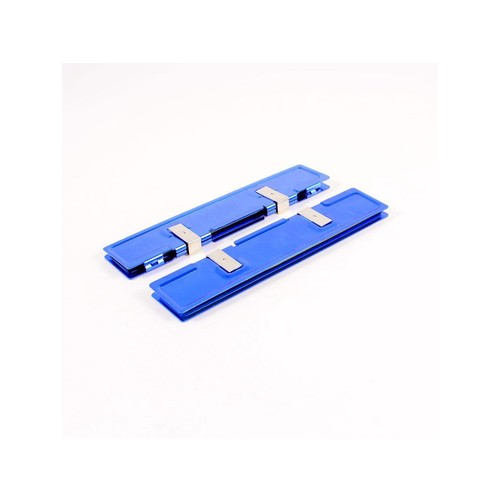 2 Pcs Blue Aluminum Heatsink Shim Spreader Cooler Cooling for DDR RAM Memory