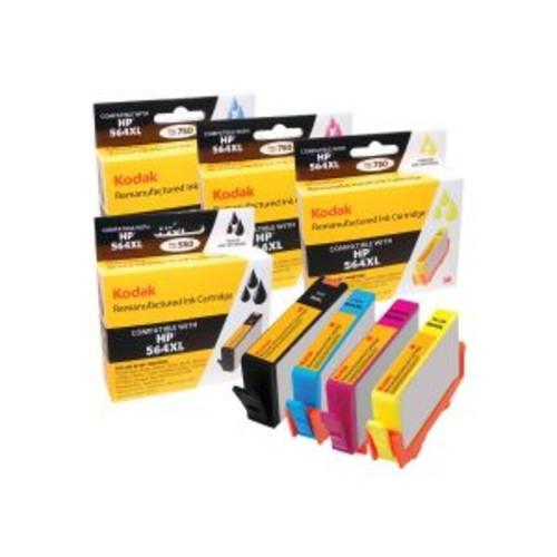 Kodak - 4-pack - High Yield - black, yellow, cyan, magenta - remanufactured - ink cartridge (equivalent to: HP 564XL) - for HP Photosmart Premium Fax C410