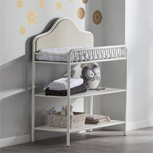Little Seeds Piper Upholstered Changing Table - Cream