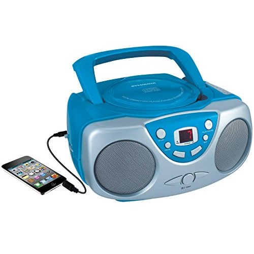 Sylvania SRCD243 Portable CD Player with AM/FM Radio, Boombox