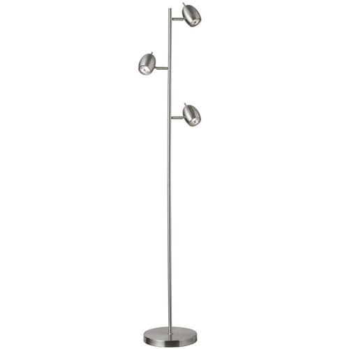 Filament Design 63 in. Satin Chrome Floor Lamp with Adjustable Head