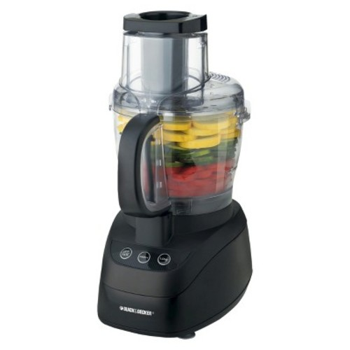 Black & Decker FP1550S 10-Cup Food Processor, Stainless Steel and Black