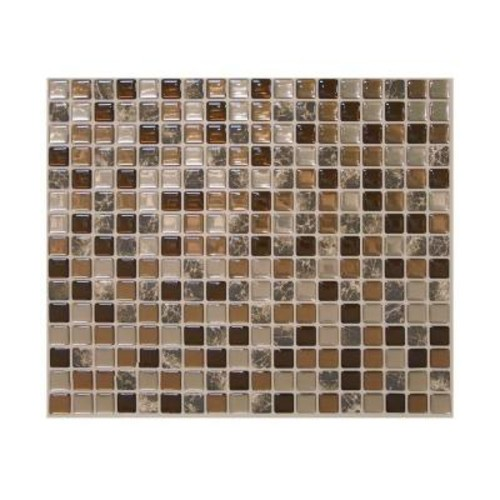 Smart Tiles Minimo Roca 11.55 in. W 9.64 in H Peel and Stick Decorative Mosaic Wall Tile Backsplash (6-Pack)