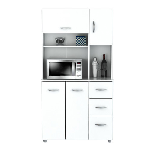Inval Storage Cabinet With Microwave Stand, 6 Shelves, 66