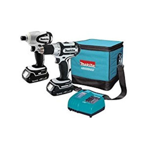 Makita LCT200W-R 18V Cordless Lithium-Ion 1/2 in. Drill Driver & 1/4 in. Impact Driver Combo Kit (Certified Refurbished)