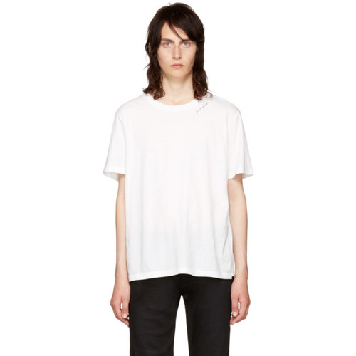 SAINT LAURENT White 'Je T'Aime' T-Shirt