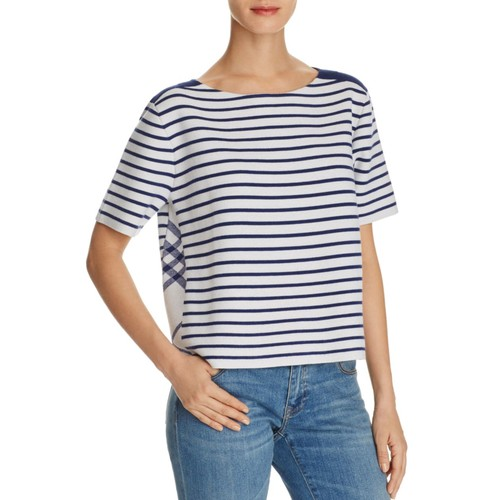 BURBERRY Riverpiave Short-Sleeve Wool Sweater