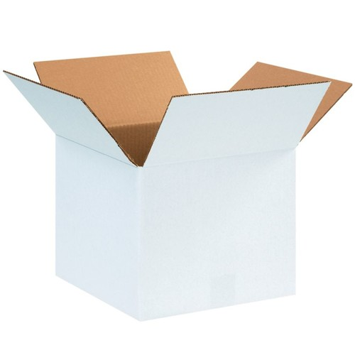 Office Depot Brand White Corrugated Cartons, 12