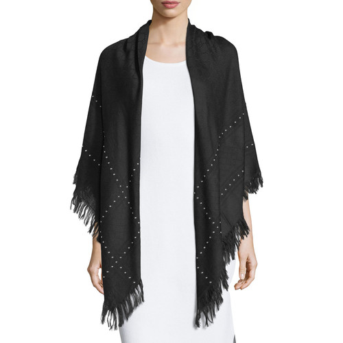 GUCCI Studded Survie C.O. Shawl, Black