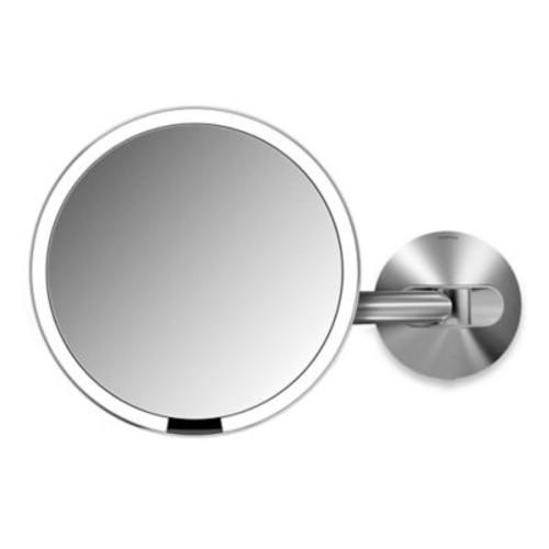 simplehuman 5X Sensor Wall-Mounted Mirror in Brushed Metal