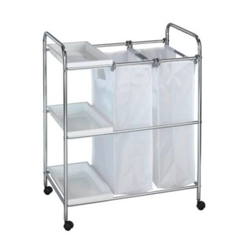 Wenko Arona Laundry Cart in Chrome