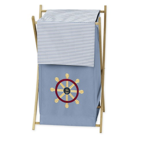 Sweet Jojo Designs Come Sail Away Collection Laundry Hamper