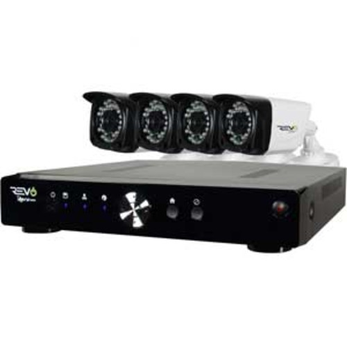 Revo 4-Channel Digital Video with 4 x 1080p Cameras and Pre-Installed 1TB hard Drive : RA41FRYS