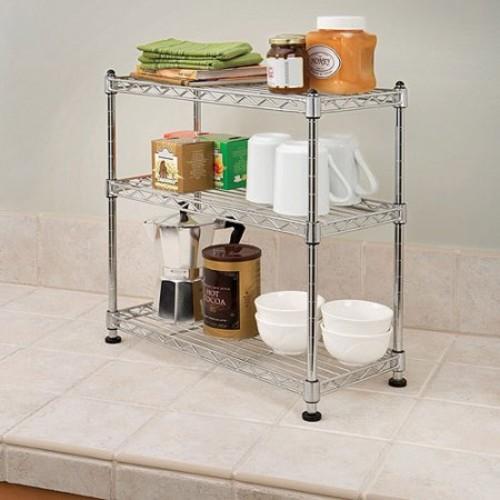 Seville Classics Mini 3-Tier Shelf Organizer, SHE05105ZB