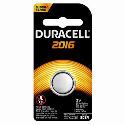 KS0001 Duracell 2016 Lithium Battery - 1 Count