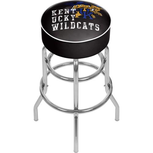 University of Kentucky Wildcats Chrome Bar Stool with Swivel - Smoke