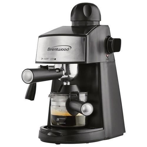 Brentwood - Espresso and Cappuccino Maker - Black/Silver