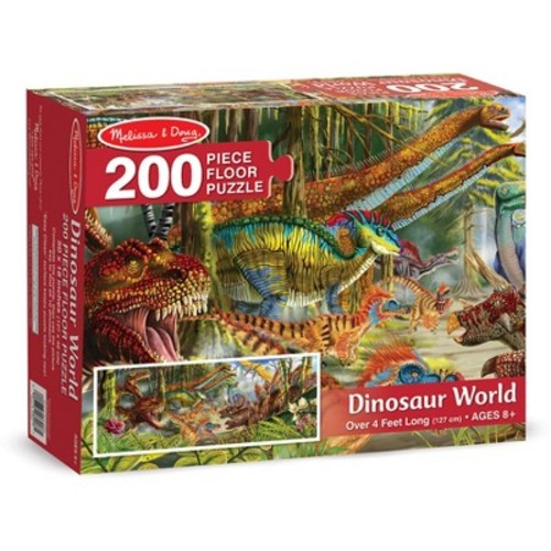 Melissa & Doug Dinosaur World Jumbo Jigsaw Floor Puzzle (200 pcs, over 4 feet long)