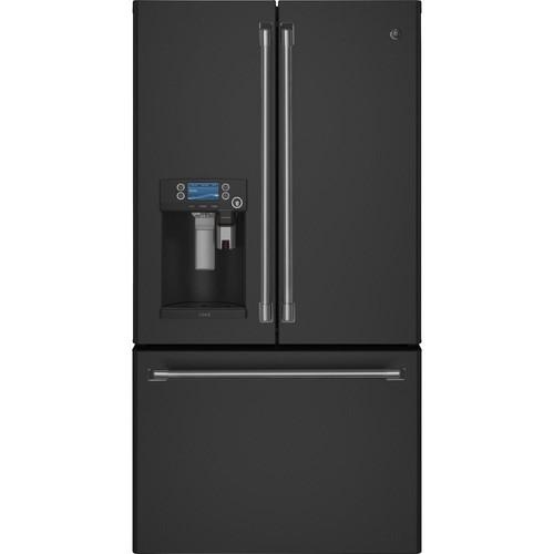 GE Cafe 27.8 cu. ft. Smart French-Door Refrigerator with WiFi in Black Slate, Fingerprint Resistant