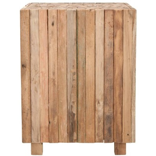 Richmond Square End Table Medium Oak - Safavieh