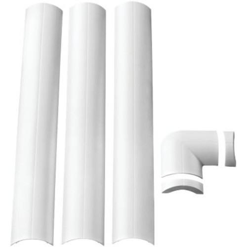 Omnimount Wall-Mounted Cable Management System, White