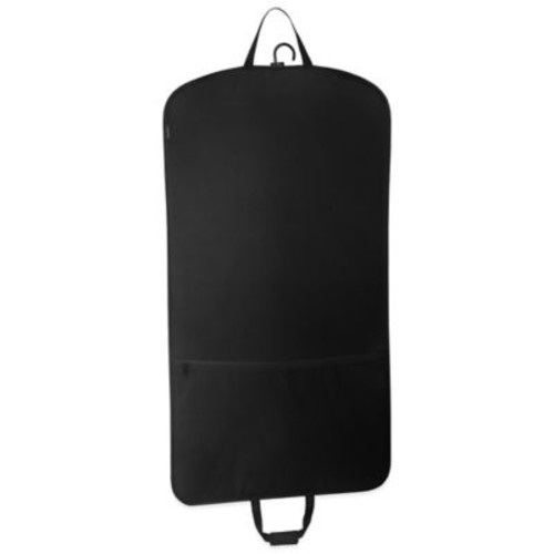 WallyBags 45-Inch Slim Garment Bag with Pocket in Black
