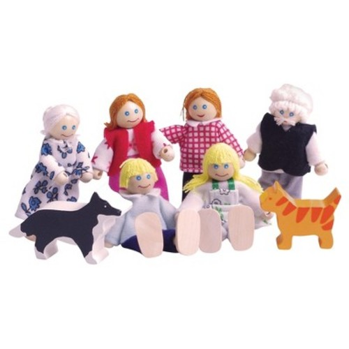 Bigjigs Toys Heritage Wooden Doll Family Play Set