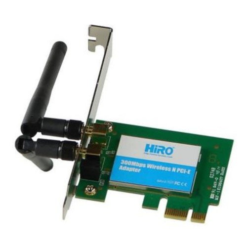 Hiro 300 Mbps Wireless PCI-Express Adapter with 2 dBi Dipole Antenna (MBFM-H50296)