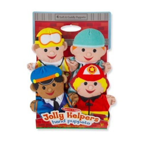 Melissa and Doug Jolly Helpers Hand Puppets (Set of 4)