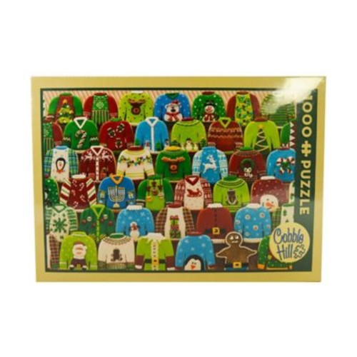 Cobble Hill Puzzle Company Ugly Xmas Sweater 1000-Piece Jigsaw Puzzle