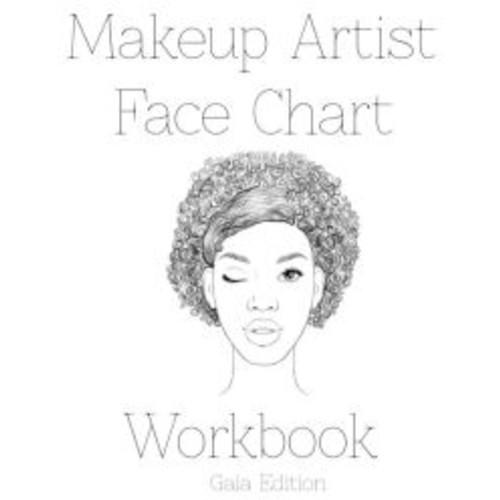 Makeup Artist Face Chart Workbook: Gaia Edition