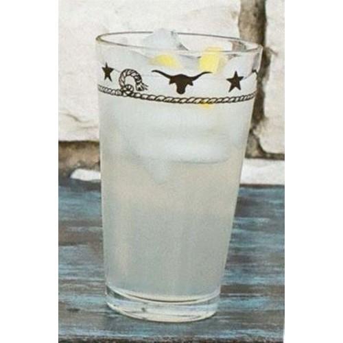 Loon Peak Elettra Longhorns 20 oz. Juice Glass (Set of 4)
