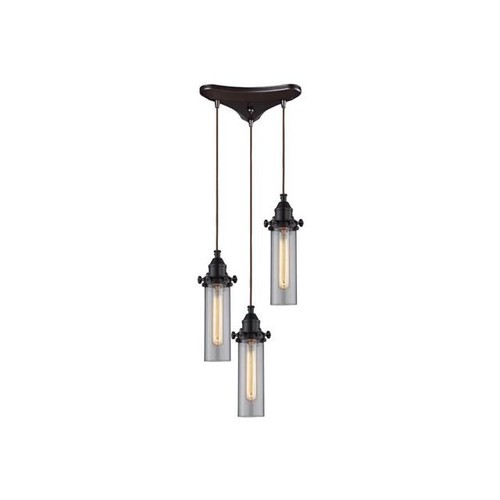 ELK Lighting Fulton 3 Light Pendant, Oil Rubbed Bronze - 66326-3