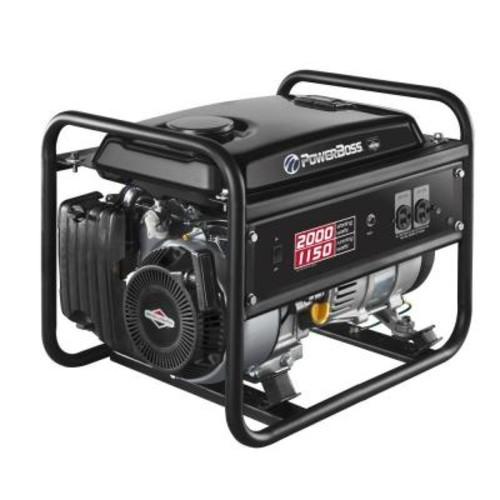 PowerBoss 1,150-Watt Gasoline Powered Recoil Start Portable Generator with Briggs & Stratton Engine