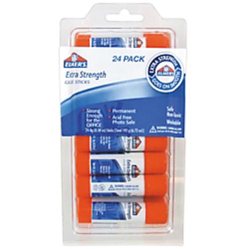 Elmer's Extra-Strength Office Glue Sticks, 0.28 Oz., Pack Of 24