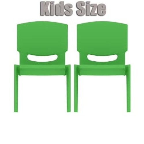 2xhome - Set of Two (2) - Green - Kids Size Plastic Side Chair 10