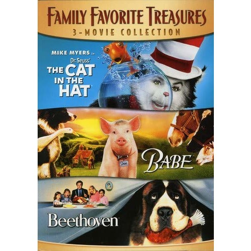 Family Favorite Treasures 3-Movie Collection: (The Cat In The Hat / Babe / Beethoven)