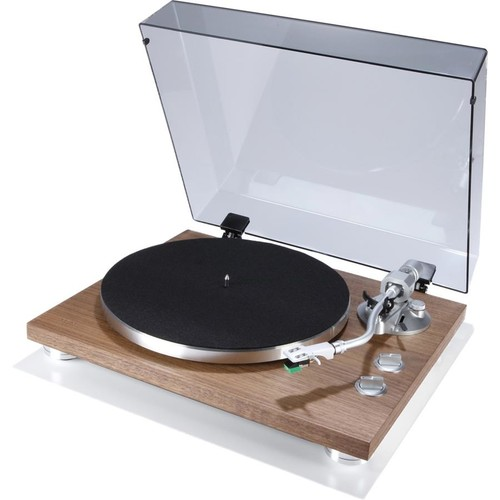 TEAC TN-400S (Walnut) Manual belt-drive turntable with pre-mounted cartridge, USB output, and built-in phono preamp