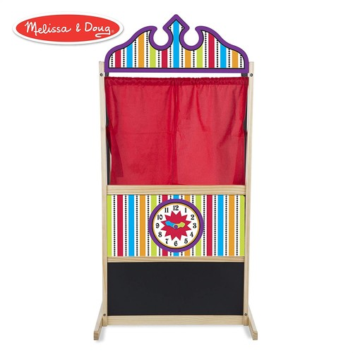 Melissa & Doug Deluxe Puppet Theater - Sturdy Wooden Construction [Puppet Theater]