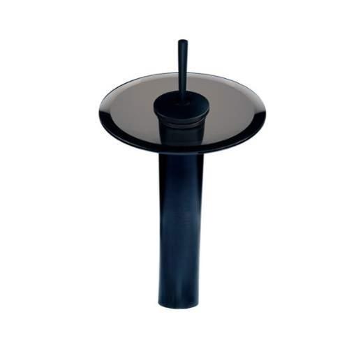Miseno ML100 Single Handle Waterfall Vessel Faucet [option : brushed nickel / brown glass - Vessel Filler]
