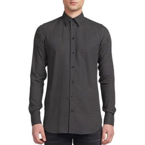 SAINT LAURENT Micro Star Print Shirt