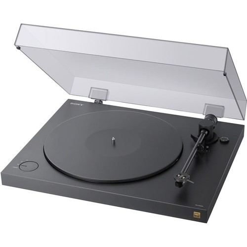Sony PS-HX500 Manual belt-drive turntable with pre-mounted cartridge, USB output, and built-in phono preamp
