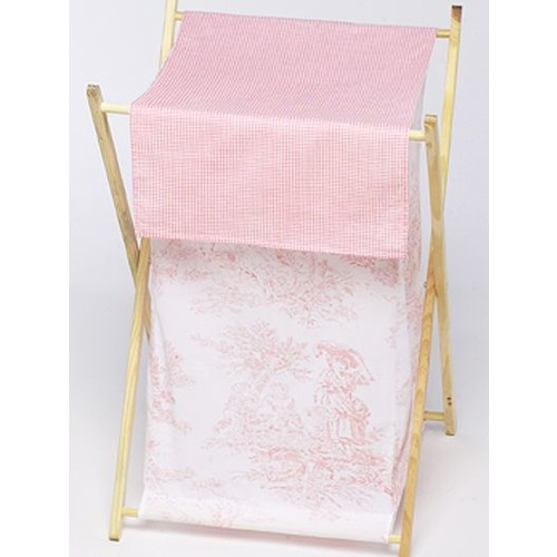 Sweet Jojo Designs Pink Toile Collection Laundry Hamper